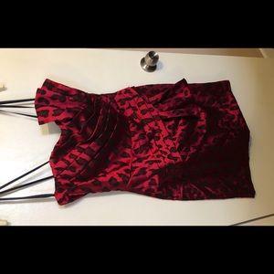 Retro throwback! Satin cheetah print dress.